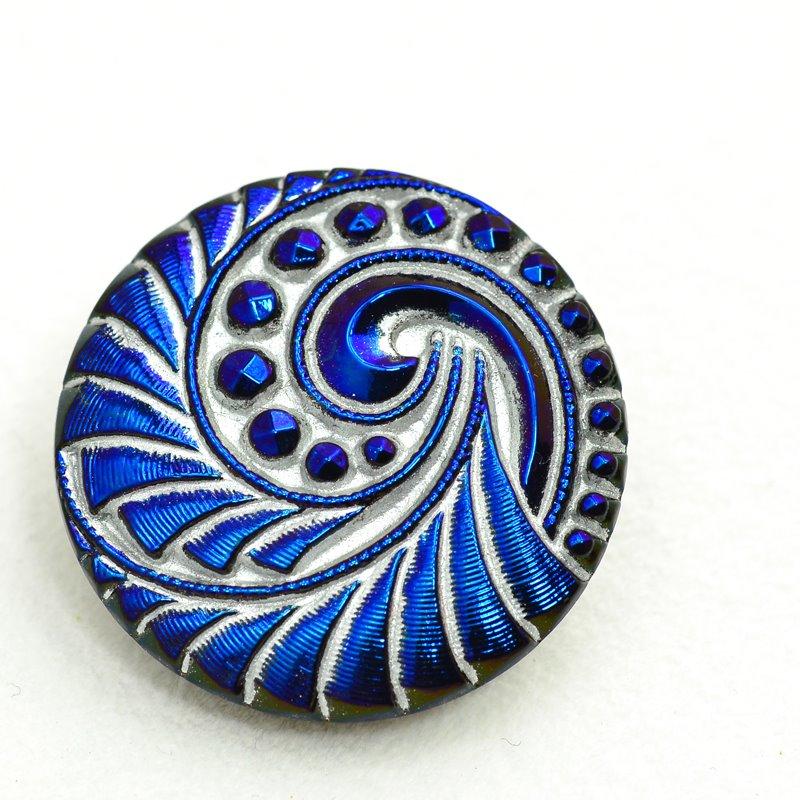 s47994 Button - 27 mm Vortex - Royal Blue