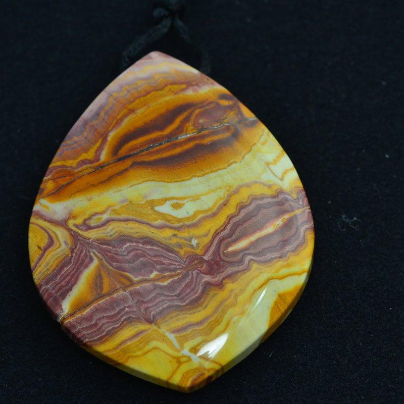 s48028 Stone Pendant -  Horse Eye OOAK - Sonoran Jasper