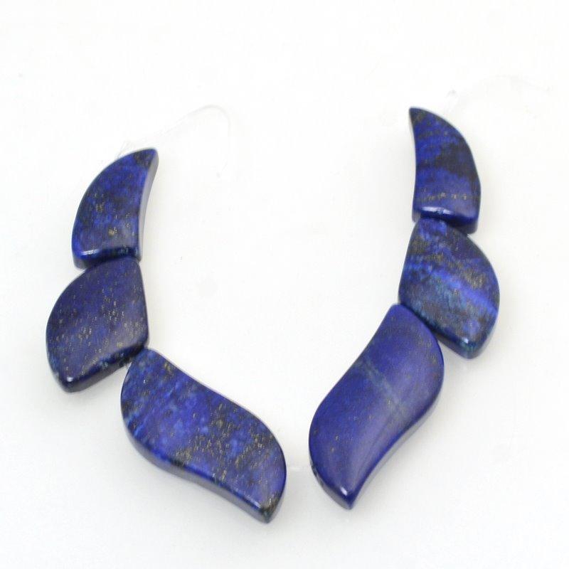 s48763 Stone Pendant -  Flame Pendant Set - Lapis Lazuli