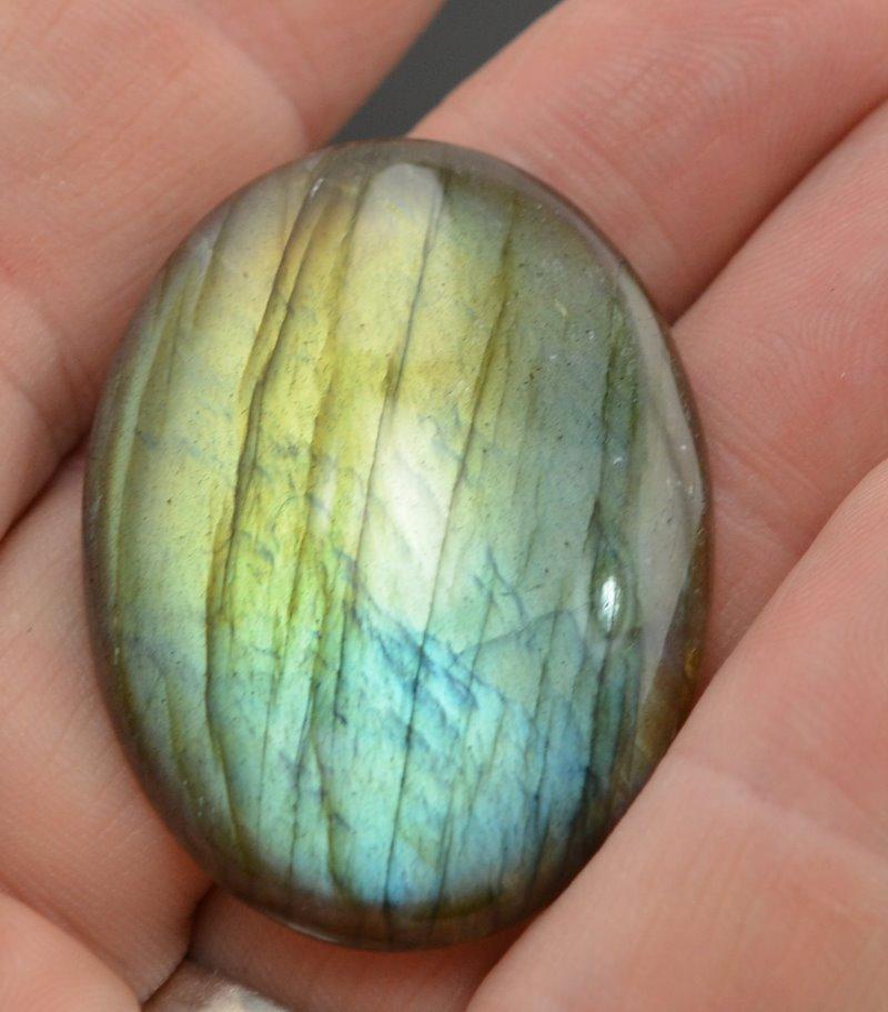 s48833 Stone Cabochon - 30 x 40 mm Oval Cabochon - Labradorite