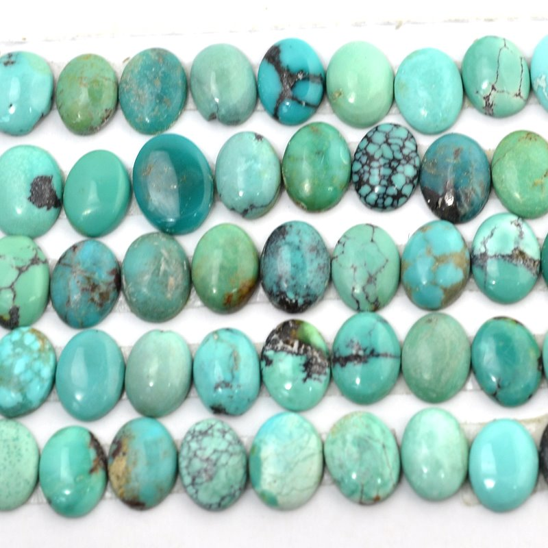 s48834 Stone Cabochon - 6 x 8 mm Oval Cabochon - Turquoise