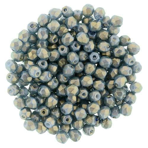 s48883 Firepolish - 3 mm Faceted Round - Halo Ethereal Shadows (strand 50)