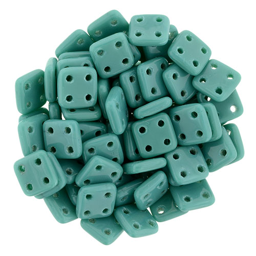 s48930 Glass Beads - Czechmates - 6 mm Quadra Tiles - Persian Turquoise