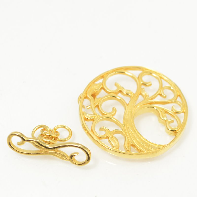 s49624 Findings - Toggle Clasp -  Bending Tree - Goldplated