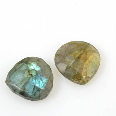 s53581 Stone Pendant - Larger Faceted Pear Drop - Labradorite