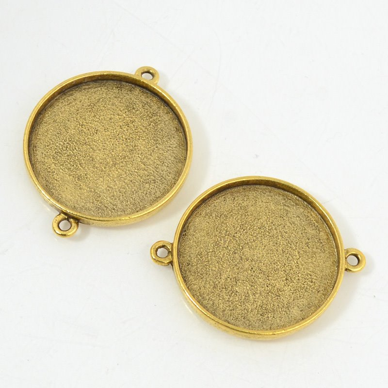 s53587 Bezel / Pan - ID 32 mm Circle Double Loop - Antique Gold