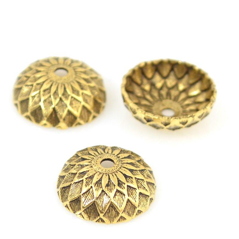 s53589 Bead Cap - Acorn - Antique Gold (2)