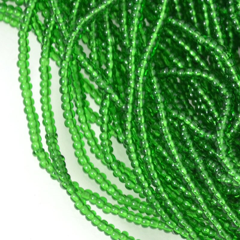 s54647 Seedbeads - 16/0 Seed Beads - Transparent Emerald (hank)
