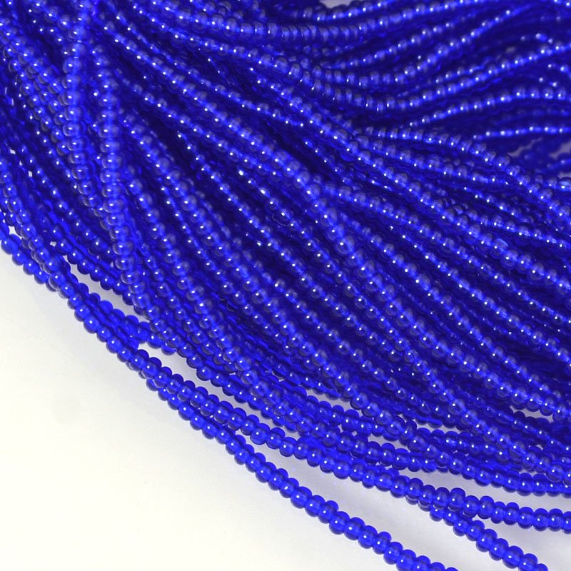 s54648 Seedbeads - 16/0 Seed Beads - Transparent Cobalt (hank)