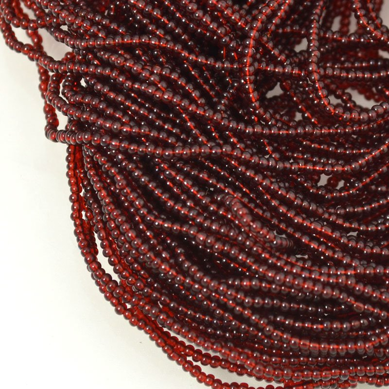 s54649 Seedbeads - 16/0 Seed Beads - Transparent Dark Topaz (hank)