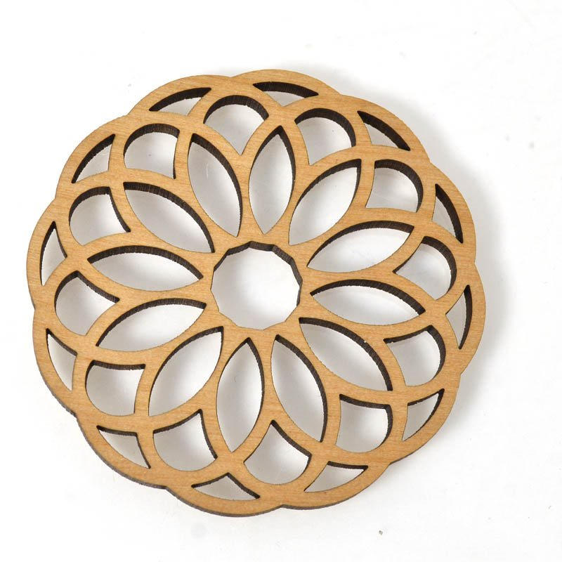 s54668 Pendant - Filigree - Laser Cut Wood
