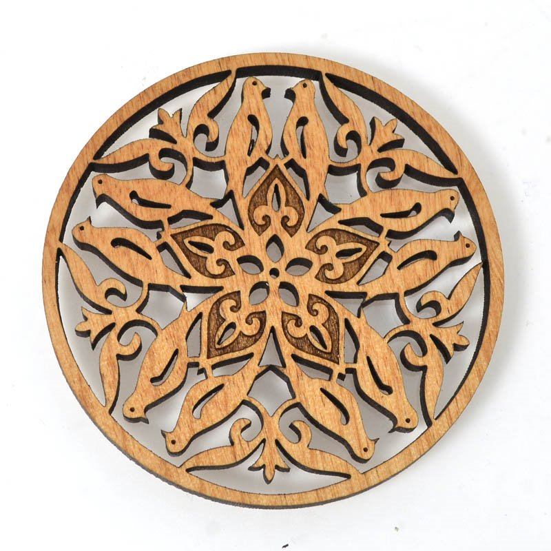 s54669 Pendant - Birds - Laser Cut Wood