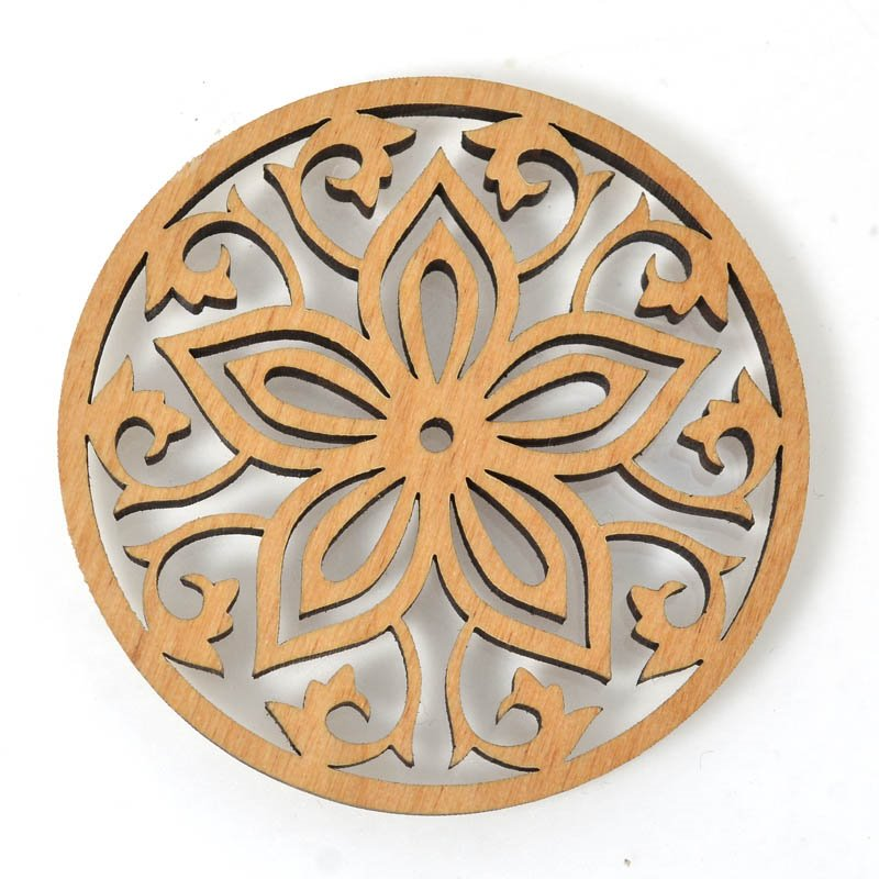 s54670 Pendant - Large Flower - Laser Cut Wood