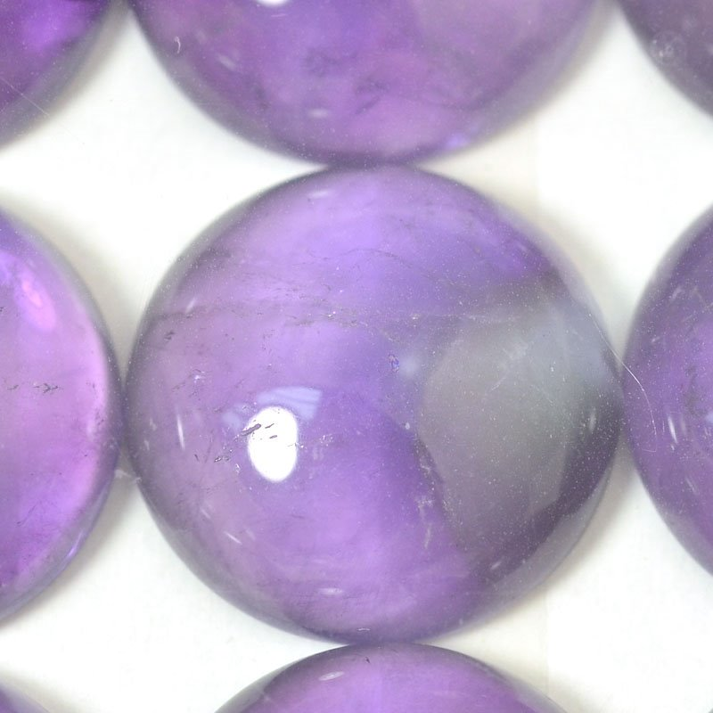 s54882 Stone - 18 mm Round Cabochon - Amethyst