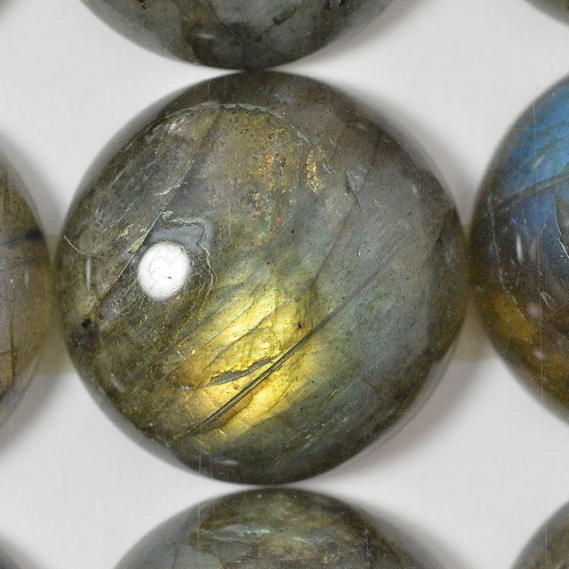 s54884 Stone - 18 mm Round Cabochon - Labradorite