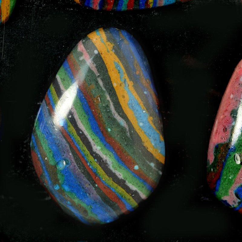 s54894 Stone - Freeform Cabochon - Rainbow Calsilica