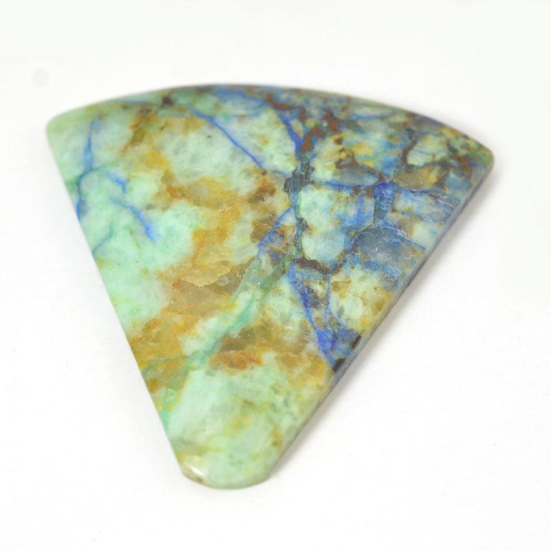 s54897 Stone Cabochon - OOAK - Freeform Triangle - Azurite