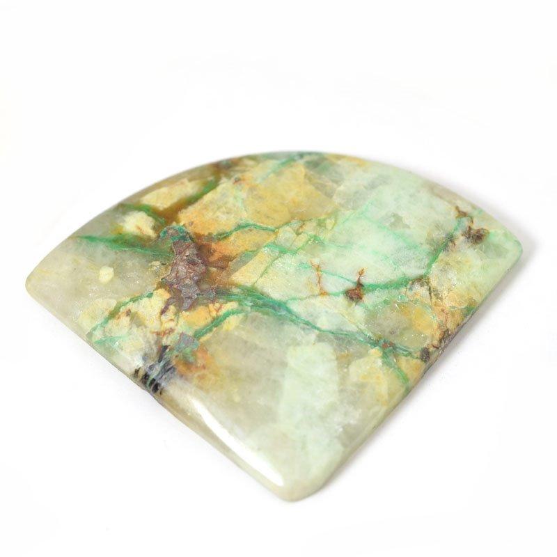 s54898 Stone Cabochon - OOAK - Freeform Triangle - Azurite