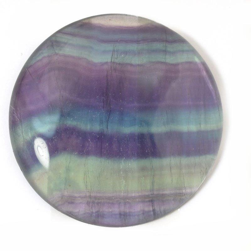 s54905 Stone - Round Cabochon OOAK - Rainbow Fluorite