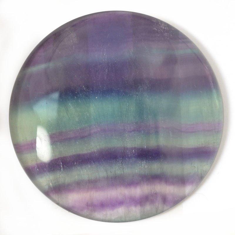 s54906 Stone - Round Cabochon OOAK - Rainbow Fluorite