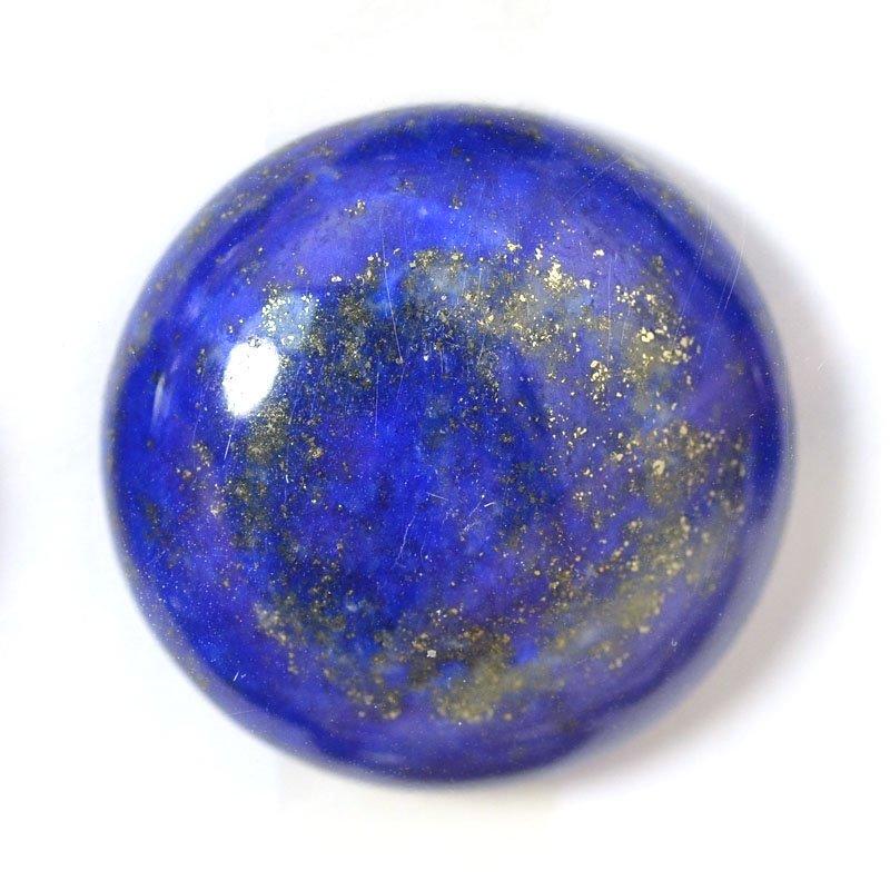 s54907 Stone - 20 mm Round Cabochon - Lapis Lazuli