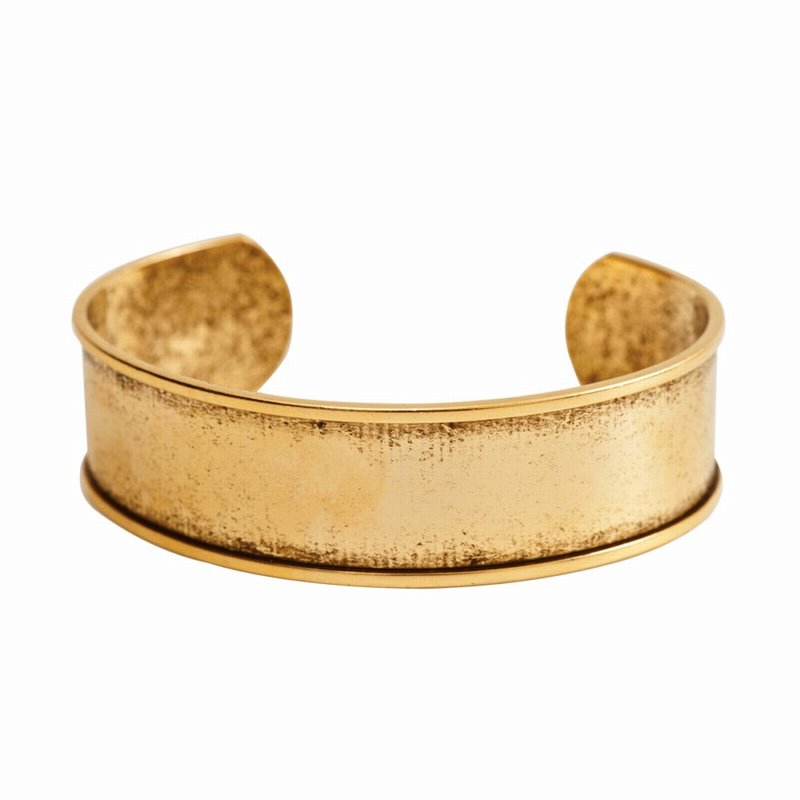 s55393 Bracelet Blank - .75 in Channel Cuff - Antique Gold