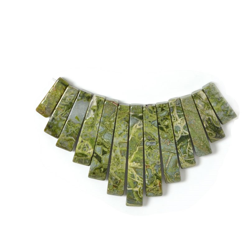 s55402 Stone Beads - Graduated Fan - Rhyolite (Set)