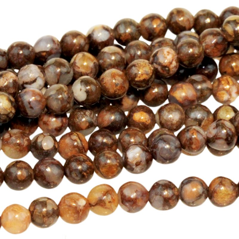 s55413 Stone Beads - 4 mm Round - Fire Opal (strand)