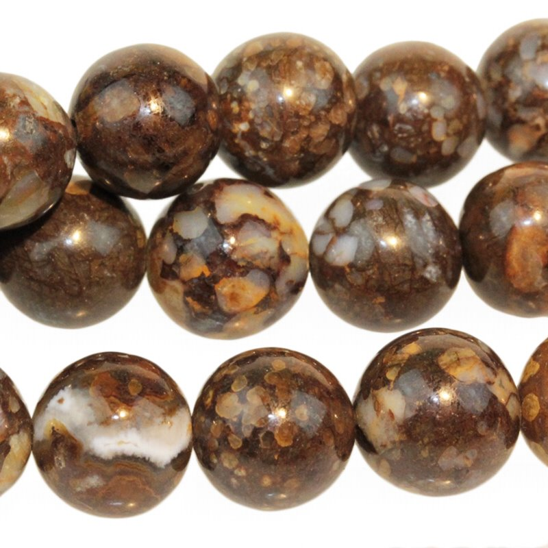 s55416 Stone Beads - 10 mm Round - Fire Opal (strand)