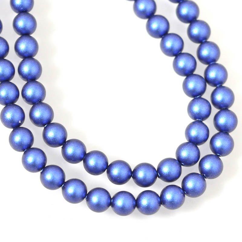 s55435 Swarovski Pearl - 5 mm Round Pearl (5810) - Iridescent Dark Blue Pearl (strand 25)