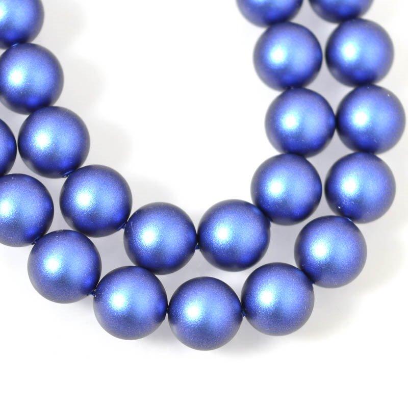 s55436 Swarovski Pearl - 10 mm Round Pearl (5810) - Iridescent Dark Blue Pearl (10)