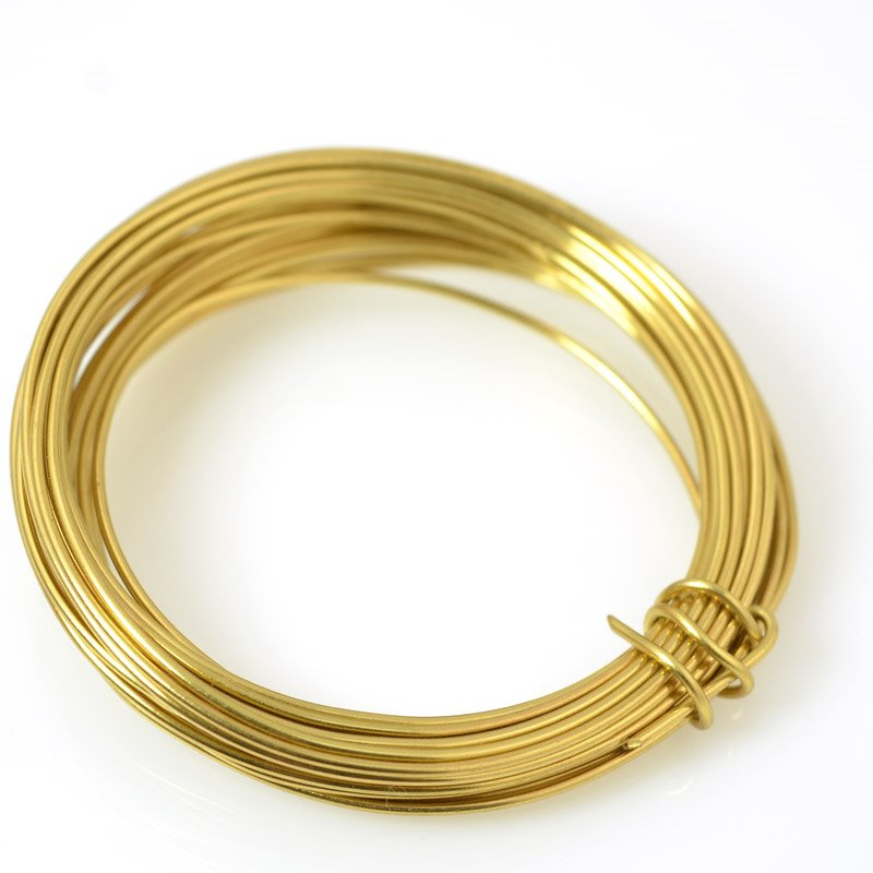 s55474 ParaWire - 16 gauge Round Wire - Faux Gold (5 yards)