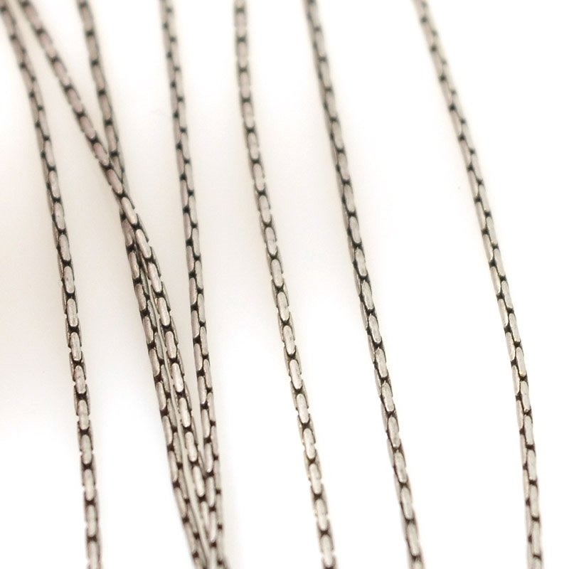 s55511 Chain - 1 mm Beading Chain - Antiqued Silver (foot)