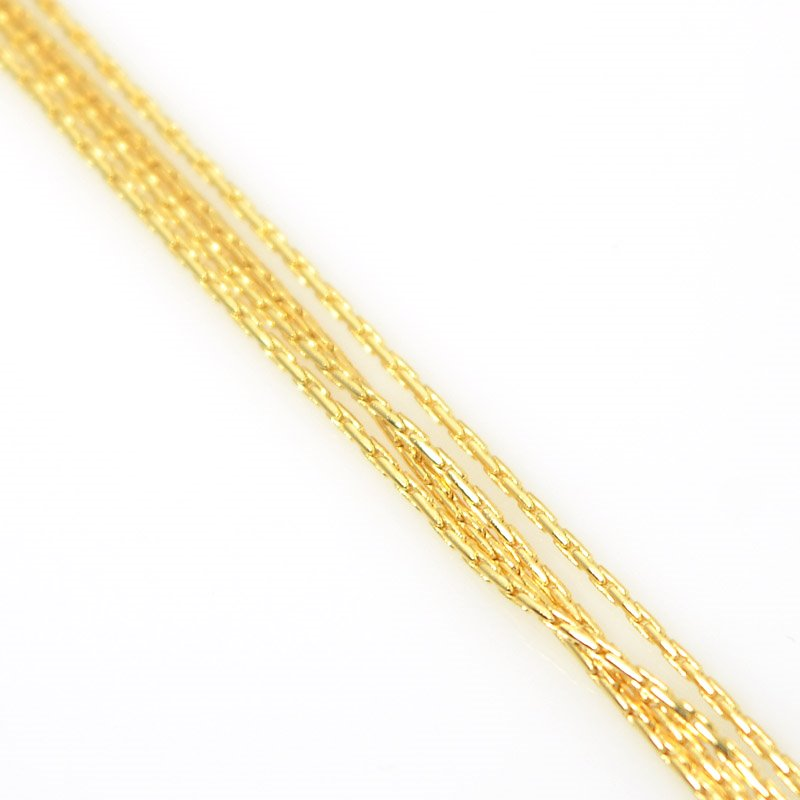 s55512 Chain - 1 mm Beading Chain - Bright Gold Plated (foot)