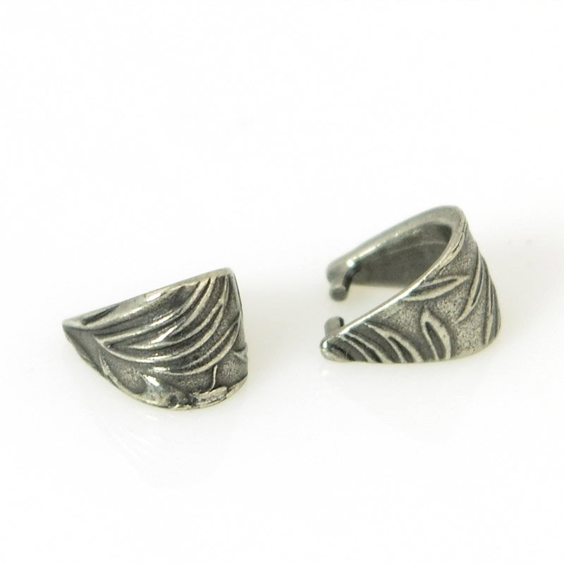 s55582 Findings - Pinch Bail - Small Jardin - Antiqued Pewter
