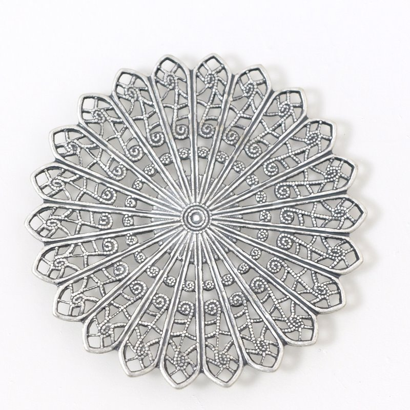 s55902 Filigree - 46 mm Rose Window - Antiqued Silver