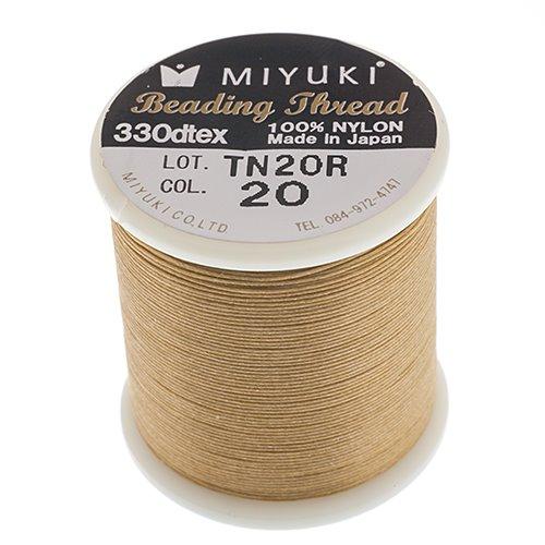 s55914 Thread - Size B Miyuki Nylon Thread - Brown Biscotti (Spool)