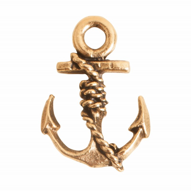 s56047 Charm - Anchor - Antique Gold