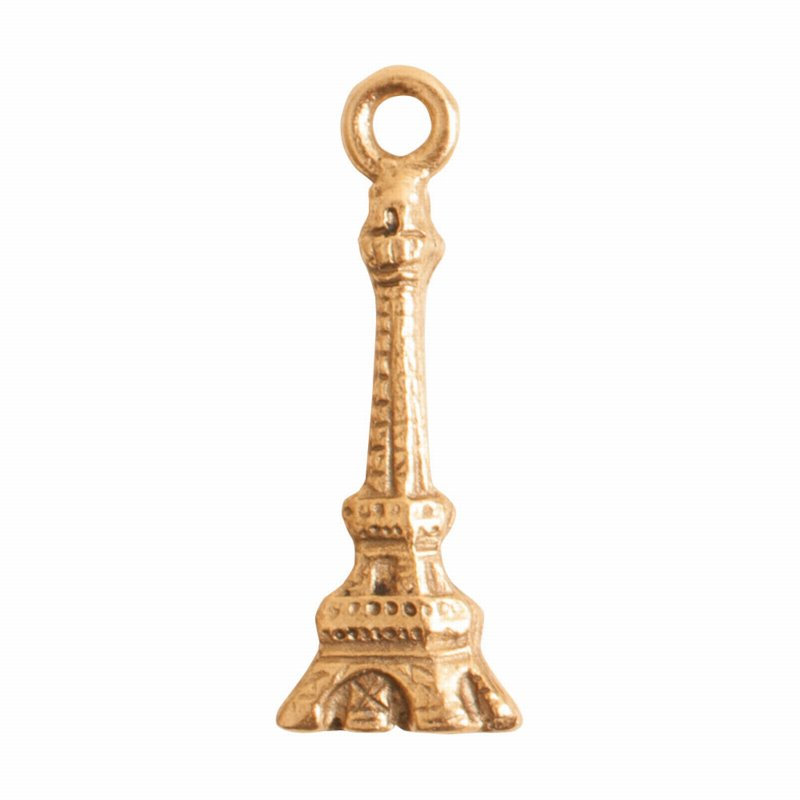 s56049 Charm - Eiffel Tower - Antique Gold