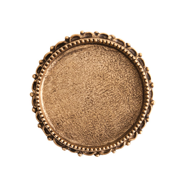 s56067 Finding - Brooch - Ornate Grande Circle - Antique Gold