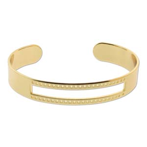 s56070 Bracelet Blank - Centreline Cuff - Bright Gold Plated