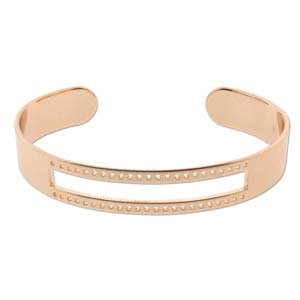 s56071 Bracelet Blank - Centreline Cuff - Rose Gold Plated