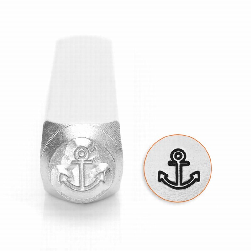 s56224 ImpressArt Stamps - 6 mm Design Stamp/Punch - Anchor