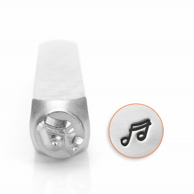 s56226 ImpressArt Stamps - 6 mm Design Stamp/Punch - Music Note