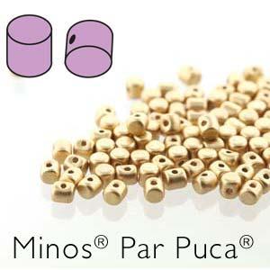 s56244 Czech Shaped Beads - Minos par Puca - Matte Light Gold