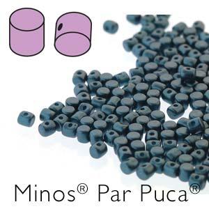 s56246 Czech Shaped Beads - Minos par Puca - Pastel Petrol
