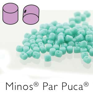 s56252 Czech Shaped Beads - Minos par Puca - Opaque Green Turquoise