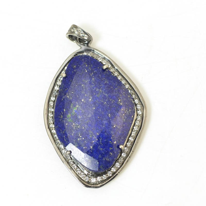 s56403 Stone Pendant - OOAK - Freeform Pendant - Lapis Lazuli