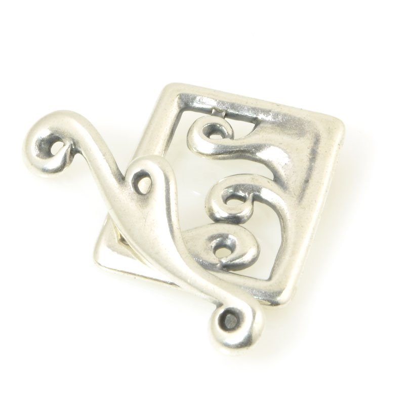s56470 Findings - Clasp - Toggle - Framed Waves - Antiqued Silver