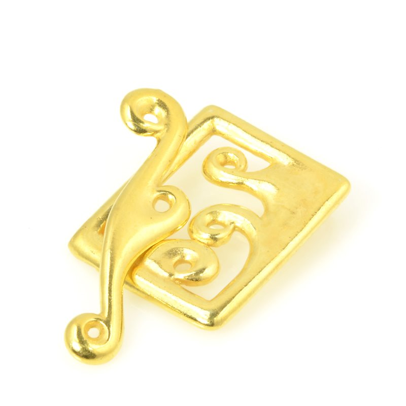 s56471 Findings - Clasp - Toggle - Framed Waves - Bright Gold Plated